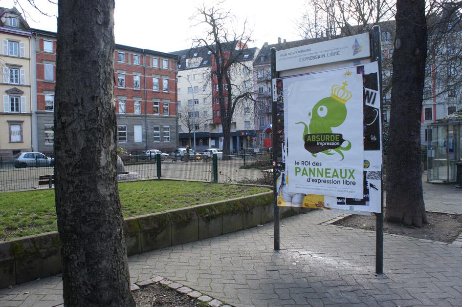 Place de la porte blanche panneaux d 39 expression libre strasbourg af - La porte blanche belgique ...